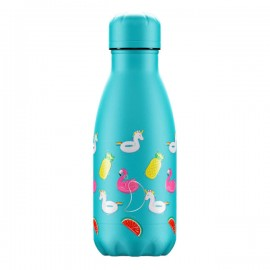 CHILLY'S BOTTLES Μπουκάλι- Θερμός, Pool PartyDay Light Blue - 260ml