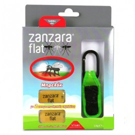 VICAN Zanzara Flat Εντομοαπωθητικό Μπρελόκ  Με 2 Ταμπλέτες Πράσινο 1τμχ