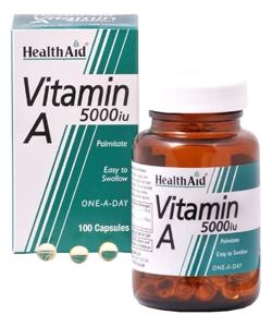 HEALTH AID Vitamin A 5000IU - 100caps