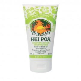 HEI POA Shampoo & Shower Gel Tiare 2 in 1 Ενυδατικό Σαμπουάν & Αφρόλουτρο με Λάδι Monoi 150 ml