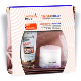 PANTHENOL EXTRA Sun Care and Beauty Set, Color SPF50 - 50ml & Δώρο Face And Eye Cream - 50ml