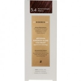 KORRES Βαφή Μαλλιών Abyssinia Superior Gloss Colorant Καστανό Ανοιχτό Χάλκινο 5.4 50ml