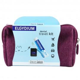 ELGYDIUM Dental Travel Kit Μπορντό Νεσεσέρ με 3 τμχ.