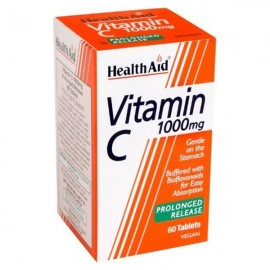 HEALTH AID Prolonged Release Vitamin C 1000mg, Βιταμίνη C Βραδείας Αποδέσμευσης - 60 tabs
