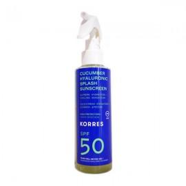 KORRES Cucumber Hyaluronic Αντηλιακό Spray, Πρόσωπο & Σώμα SPF50 - 150ml