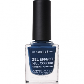 KORRES Gel Effect Nail Colour No.84 Indigo Blue Βερνίκι Νυχιών 11ml