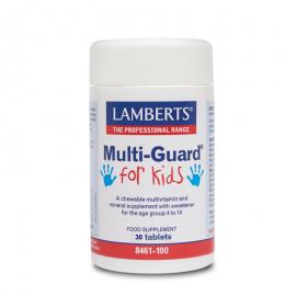 LAMBERTS Multi Guard For Kids, Παιδικές Μασωμενες Πολυβιταμίνες - 30tabs