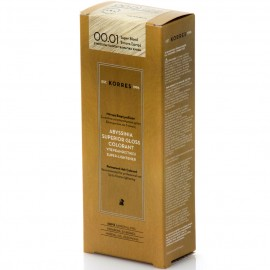 KORRES Abyssinia Superior Gloss Colorant Βαφή Μαλλιών No. 00.01 Super Blond Έντονο Σαντρέ 50ml