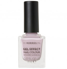 KORRES Gel Effect Nail Colour, 06 Cotton Candy, Με Αμυγδαλέλαιο - 11ml