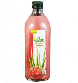 Kaloe Gel Αλόης Φυσικός χυμός βιολογικής αλόης με φράουλα 1Lt