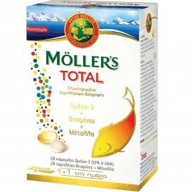 MOLLER'S Total Ω3 & Βιταμίνες & Μέταλα - 28 Caps +28 Tabs