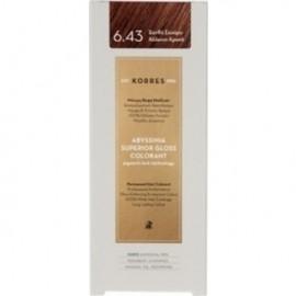 KORRES Βαφή Μαλλιών Abyssinia Superior Gloss Colorant Ξανθό Σκούρο Χάλκινο Χρυσό 6.43 50ml