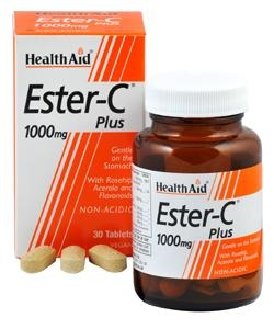 HEALTH AID ESTER C PLUS 1000MG 30TABS
