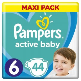 PAMPERS Active Baby Maxi Pack No 6 (13-18kg) - 44τμχ