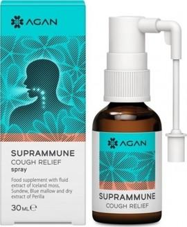 AGAN Suprammune Cough Relief Spray για Προστασία και Αντιμετώπιση του Ξηρού και Ερεθιστικού Βήχα 30 ml