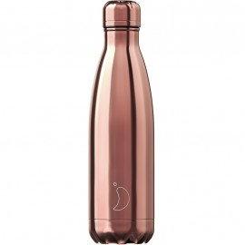 CHILLY'S BOTTLES Μπουκάλι- Θερμός, Chrome Edition Rose Gold - 500ml