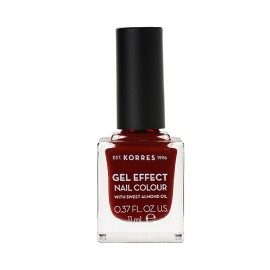 KORRES Gel Effect Βερνίκι Νυχιών Nail Colour No59 Wine Red 11ml