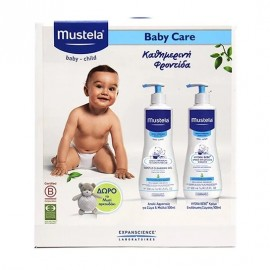 MUSTELA Baby Care Gentle Cleansing Gel - 500ml & Hydra Bebe Body Lotion - 500ml & ΔΩΡΟ Αρκουδάκι