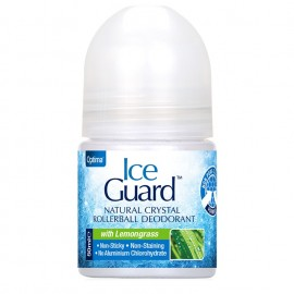 OPTIMA Ice Guard Natural Crystal Rollerball Deodorant, Lemongrass - 50ml