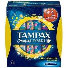 TAMPAX Cpmpak Pearl Regular, Ταμπόν με Απλικατέρ - 18 τμχ