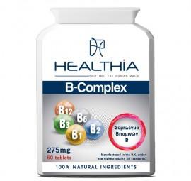 HEALTHIA B-Complex Vitamin  275mg - 60 κάψουλες