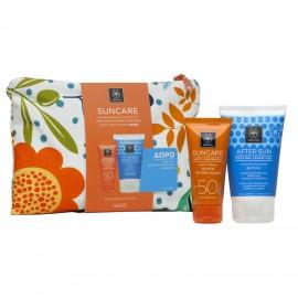 APIVITA Suncare Anti-Wrinkle SPF50 Face Cream -50ml + ΔΩΡΟ After Sun Cooling Cream Gel - 100ml