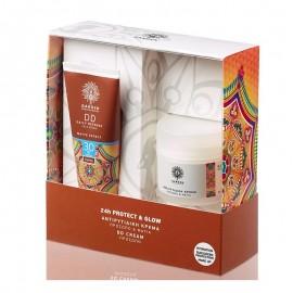 GARDEN Σετ 24h Protect & Glow, Αντιρυτιδική Κρέμα - 50ml & DD Cream - 50ml