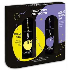 FREZYDERM Ac-Norm Peel-off Mask 50ml + ΔΩΡΟ Peeling Gel 25ml