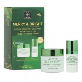 APIVITA Merry & Bright, Bee Radiant Κρέμα Ελαφριάς Υφής - 50ml & Δώρο Bee Radiant Κρέμα Ματιών - 15ml