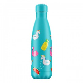 CHILLY'S BOTTLES Μπουκάλι- Θερμός, Pool PartyDay Light Blue - 500ml