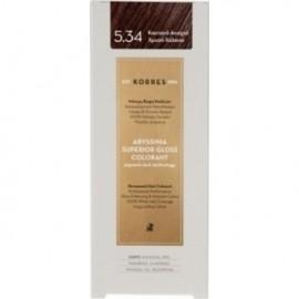 KORRES Βαφή Μαλλιών Abyssinia Superior Gloss Colorant Καστανό Ανοιχτό Χρυσό Χάλκινο 5.34 50ml