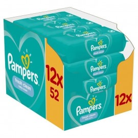 PAMPERS Fresh Clean Monthly Box, Μωρομάντηλα - 624τμχ (12 x 52)