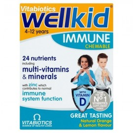 Vitabiotics Wellkid Immune 30 Chewable Tablets