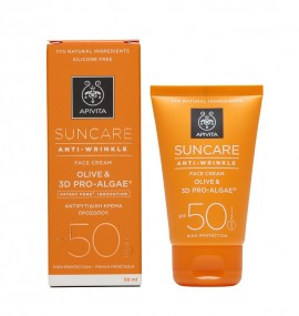 APIVITA Suncare Anti- Wrinkle SPF50, Αντιηλιακή- Αντιρυτιδική Κρέμα Προσώπου - 50ml