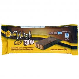 WISH Bite Γκοφρέτα Σοκολάτας Γάλακτος 30gr