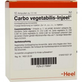 HEEL Carbo Vegetabilis-Injeel 10amps