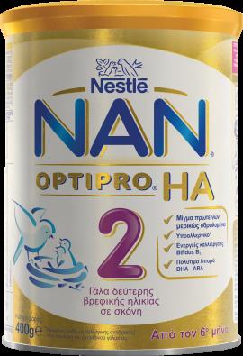 NESTLE Nan Optipro HA 2 Υποαλλεργικό Γάλα 2ης βρεφικής ηλικίας 400g