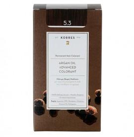 KORRES Βαφή Argan Oil 5.3 Καστανό Ανοιχτό Μελί - 50ml