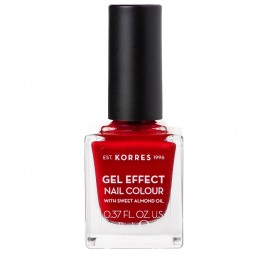 KORRES Gel Effect Βερνίκι Νυχιών Nail Colour No54 Melted Rubies 11ml