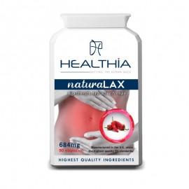 HEALTHIA Natura Lax, Φυτικό Συμπλήρωμα Διατροφής κατά της Δυσκοιλιότητας 684mg - 90caps