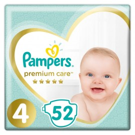 PAMPERS Premium Care No 4 (9-14kg) - 52τμχ
