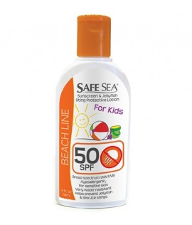 SAFE SEA Sunscreen & Jellyfish Sting Protective Lotion for Kids SPF50 - 118ml