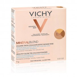 VICHY MineralBlend Healthy Glow Tri-Color Powder, Τρίχρωμη Πούδρα Tan -9gr