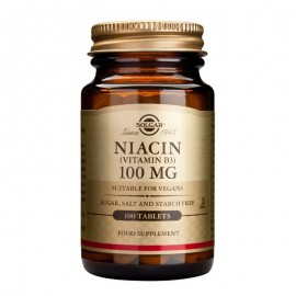 SOLGAR Niacin, Vitamin B3 100mg - 100tabs