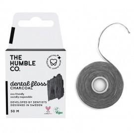 THE HUMBLE CO Dental Floss, Οδοντικό Νήμα με Ενεργό Άνθρακα - 50m