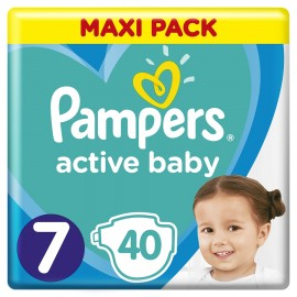 PAMPERS Active Baby Maxi Pack No 7 15+Kg 40Τμχ.
