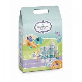 PHARMASEPT Baby Daily Routine Set, Mild Bath- 500ml & Soothing Cream - 150ml & Calm Cream - 150ml & Natural Oil - 100ml