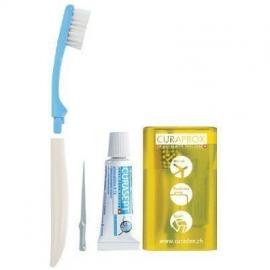 CURAPROX TS 261 Σετ Ταξιδίου με Οδοντόβουρτσα Curen® Super Soft 1τμχ & Oδοντόκρεμα Curasept ADS 705 5ml & Οδοντογλυφίδα TP 945 1τμχ