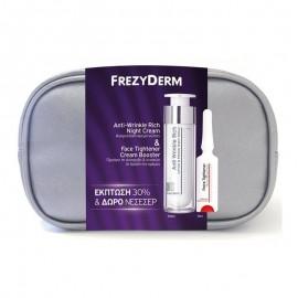 FREZYDERM Νεσεσέρ Anti-Wrinkle Rich Night Cream - 50ml & Δώρο Face Tightener Cream Booster - 5ml
