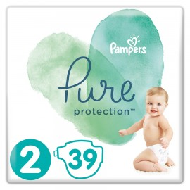 PAMPERS Pure Protection Νο 2 (4-8Kg) - 39τμχ